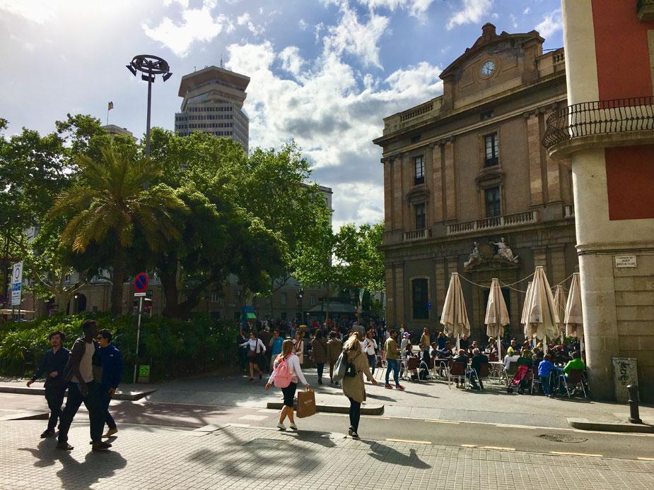 La Rambla - die bekannteste Flaniermeile Barcelonas