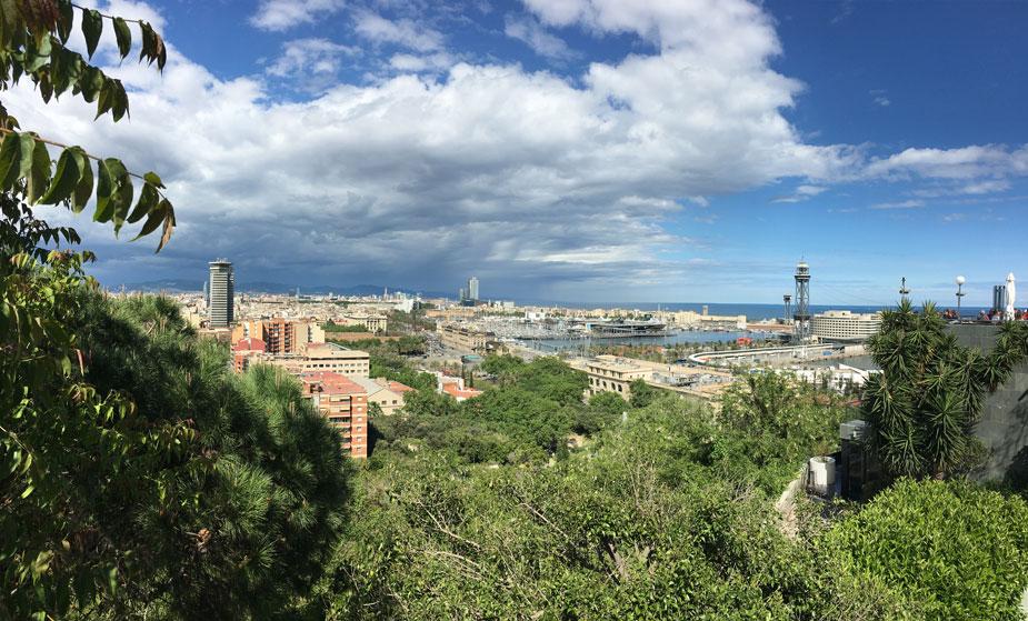Definitiv die schönste Aussicht auf Barcelona - der Montjuic