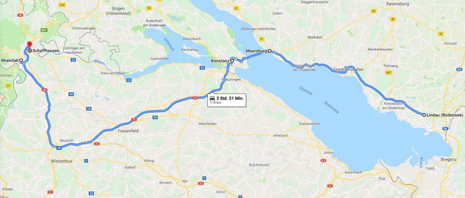 Bodenseetour - Von Lindau nach Schaffhausen