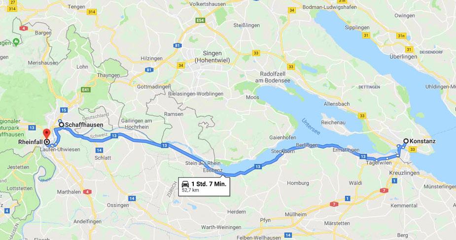 Von Konstanz nach Schaffhausen
