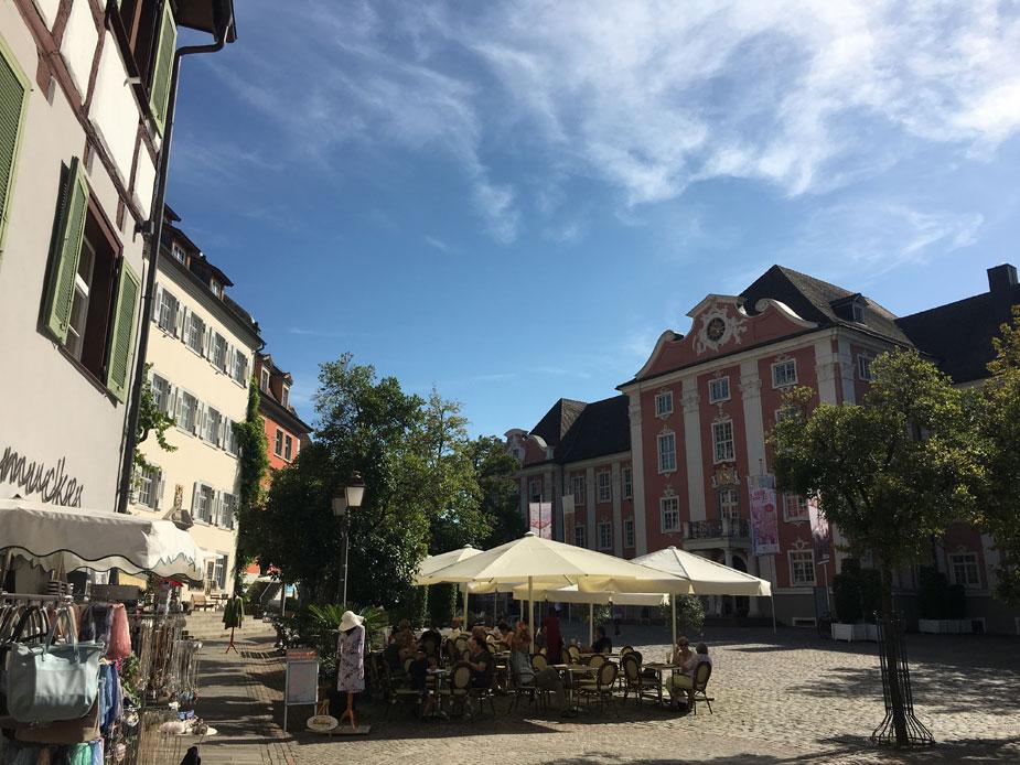Der Meersburger Marktplatz