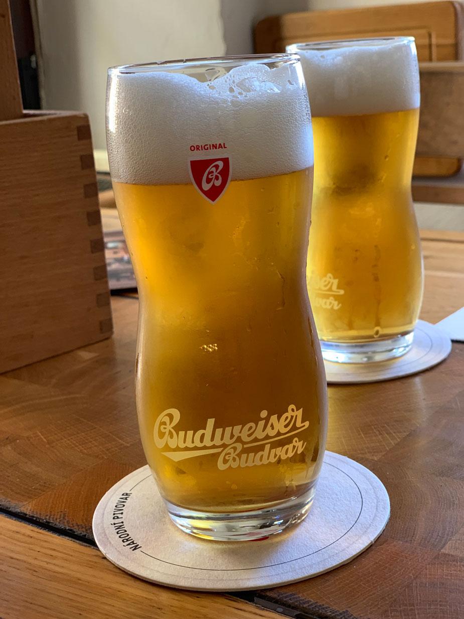 Das berühmte Budweiser Bier