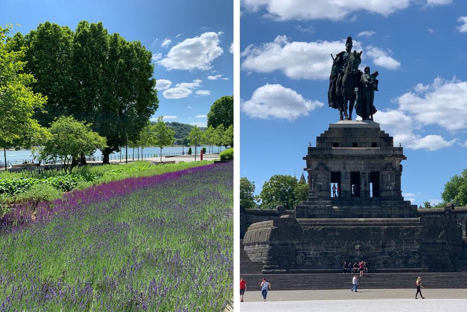 Rheinanlagen und Deutsches Eck